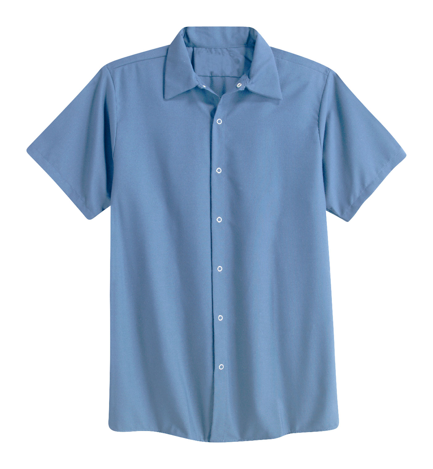 fdb59cda15 Aramark Mens Pocketless Snap-Front Shirt